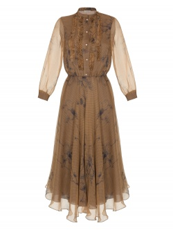 PAOLA BROWN DRESS