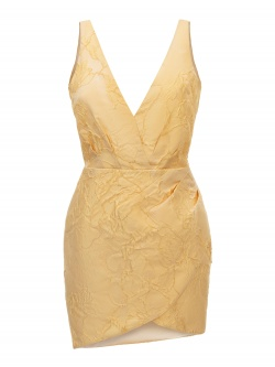 MINA JAQUARD YELLOW DRESS